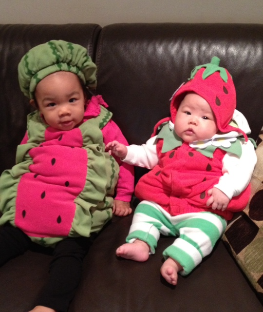 Dr. Danielle Woo's daughters in costume!